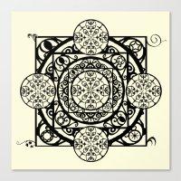 Nouveau Garden Gate Mandala Canvas Print