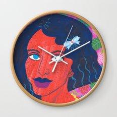 Strawberry Girl Wall Clock
