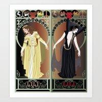 Legend Nouveau - Mirrore… Art Print