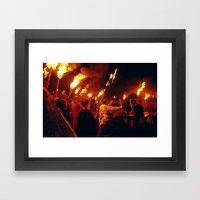 Ritual Fires Framed Art Print