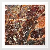 Black Marble 1 Art Print