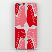 MCM Doves In Pink iPhone & iPod Skin