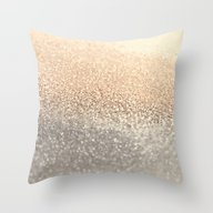Throw Pillow featuring  GOLD by Monika Strigel