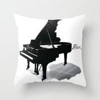 Pianist, Frédéric Chopin Throw Pillow