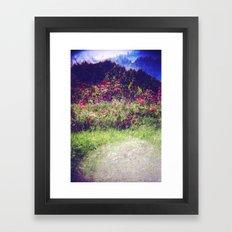 Flowers Plastic Camera Double Exposure Framed Art Print