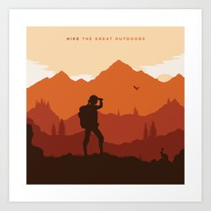 Hike The Great Outdoors Art Print