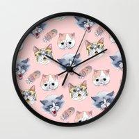Cat Attack Wall Clock