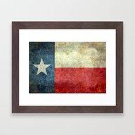 The State Flag Of Texas … Framed Art Print