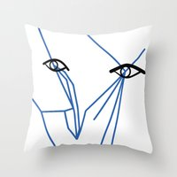 Eyes looking  Throw Pillow