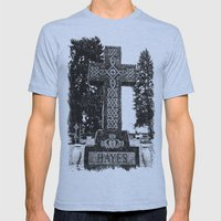 Cemetery Celtic cross Mens Fitted Tee Athletic Blue SMALL