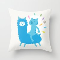 Alpaca Rider Throw Pillow