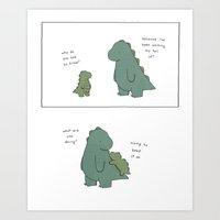 Keep Your Tail On Art Print