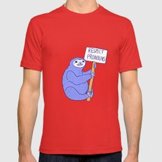 Trans Rights Sloth Mens Fitted Tee Red SMALL