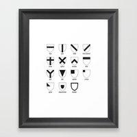 Heraldry Framed Art Print