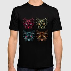 CAT FANTASY Black SMALL Mens Fitted Tee