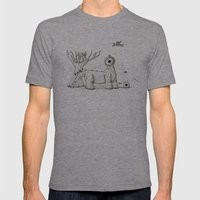 Photosaurus Mens Fitted Tee Tri-Grey SMALL