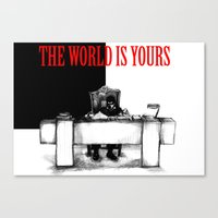 The World Is Yours Sketch Canvas Print