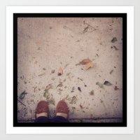 Dead Leaves & Sands Art Print