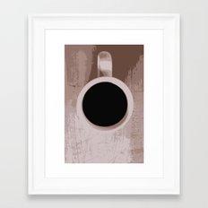 Coffee Down Framed Art Print