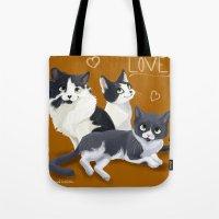 Meow Love Tote Bag