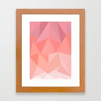 Pink Triangles  Framed Art Print