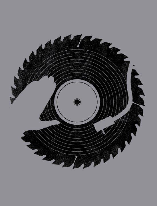That DJ sure can cut Art Print
