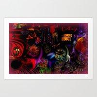 Collage Art Artsy Art by Sherri Of Palm Springs Art Print