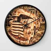 Old Pickup ( Photo By An… Wall Clock