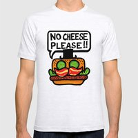 no cheese please! Mens Fitted Tee Ash Grey SMALL