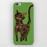 Giraffe Cat. iPhone & iPod Skin