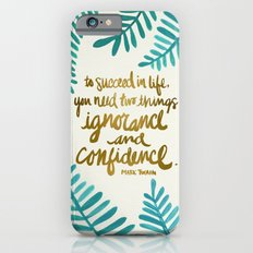 Ignorance & Confidence #1 iPhone 6 Slim Case