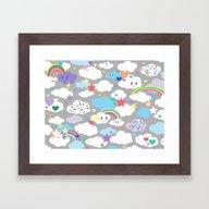 Clouds And Rainbows Kawa… Framed Art Print