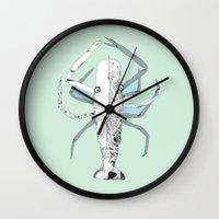 Lazy Lobster Wall Clock
