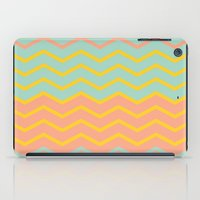 Colorful Chevron On Peac… iPad Case