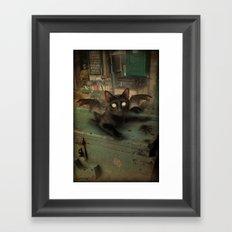 Kitty Bat Framed Art Print