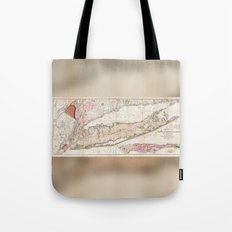 Long Island, New York  1842 Mather Map Tote Bag