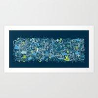 Polucion - I Live Art Print