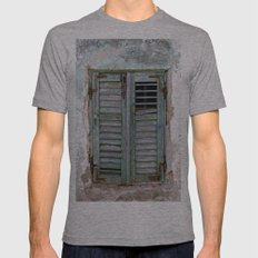 Closed Window Shutters in South Europe Mens Fitted Tee Athletic Grey SMALL