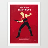 No632 My Flash Gordon minimal movie poster Art Print
