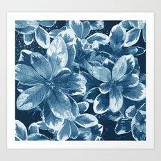 My blue leaves Art Print