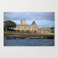 Inchcolm Abbey on Inchcolm Island - Fife, Scotland Canvas Print