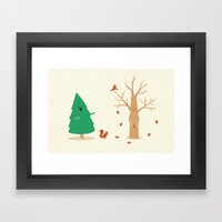 Cold And Naked Framed Art Print