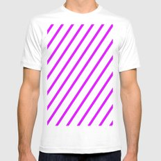 Purple Mens Fitted Tee White SMALL