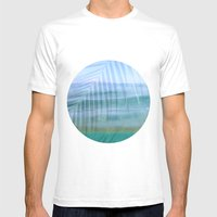Palms Over Water  Mens Fitted Tee White SMALL