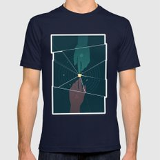 Parallel Universe Mens Fitted Tee Navy SMALL