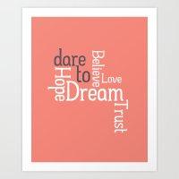 Dare To Love -- Alternat… Art Print