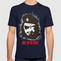 Call Me Big Boss Mens Fitted Tee Navy SMALL