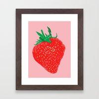 Strawberry, 2013. Framed Art Print