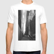 Reflection of the street White SMALL Mens Fitted Tee
