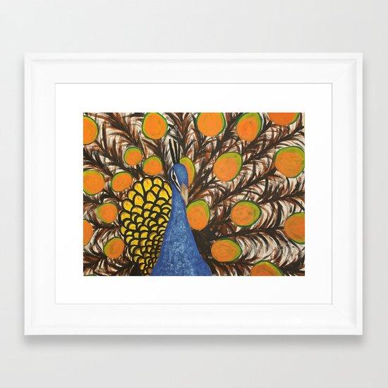 """color me feather"" Framed Art Print"